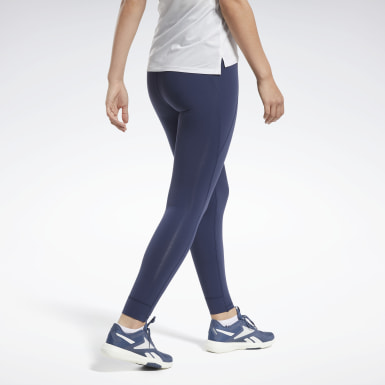 Women Yoga Blue Reebok Lux High-Rise Tights 2.0