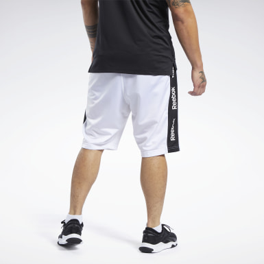 Men Fitness & Training White Training Essentials Linear Logo Shorts