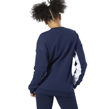Women Classics Blue Classics French Terry Big Logo Crew Sweatshirt
