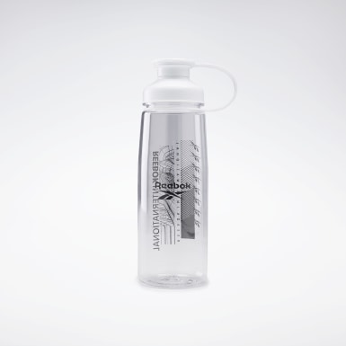 Women Running White Tech Style Bottle