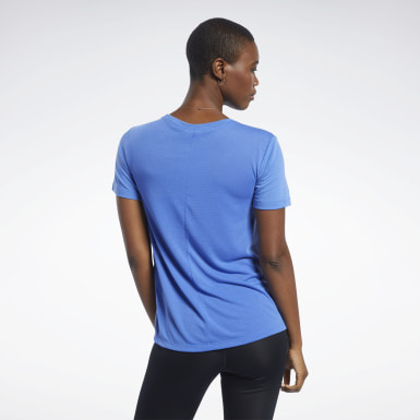 Women Yoga Blue Workout Ready Supremium Tee