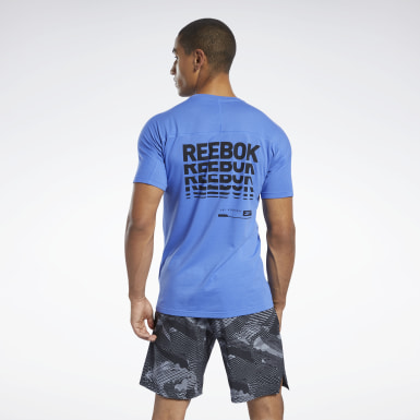 T-shirt Speedwick Move Blu Uomo Yoga