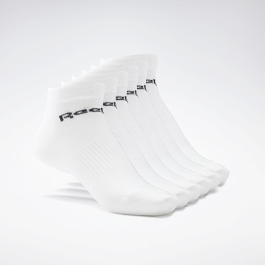 Yoga White Active Core Low-Cut Socks 6 Pairs