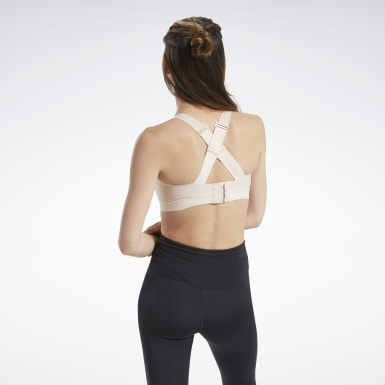 Women Pilates Pink Reebok PureMove+ Bra
