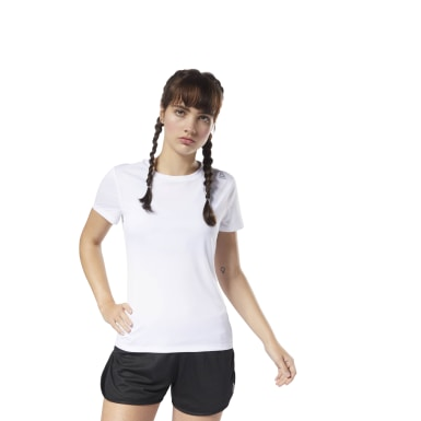 Women Running White Running Essentials Tee