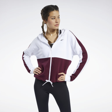Felpa con cappuccio Training Essentials Logo Bianco Donna Fitness & Training