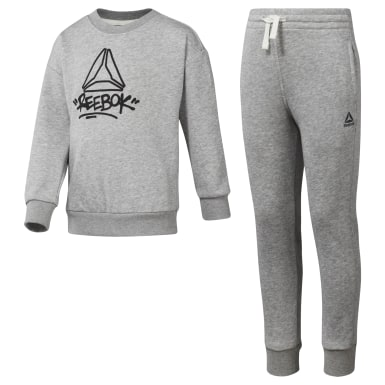 Men Training Grey Boys Essentials French Terry Tracksuit