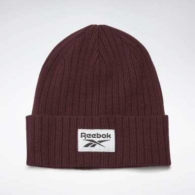 Running Active Foundation Logo Beanie Weinrot