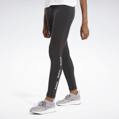 Frauen Fitness & Training Training Essentials Linear Logo Leggings Schwarz