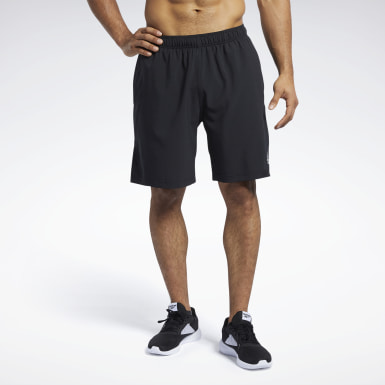 Men Cross Training Black Reebok CrossFit® Austin II Solid Shorts