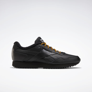 Men Classics Black Reebok Royal Glide Ripple Shoes