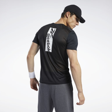 Heren Wandelsport Zwart Workout Ready ACTIVCHILL T-shirt