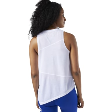 Camiseta sin mangas Workout Ready Supremium Blanco Mujer Fitness & Training
