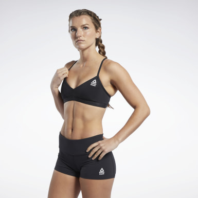 Women Fitness & Training Black Reebok CrossFit® Low-Impact Micro Bra