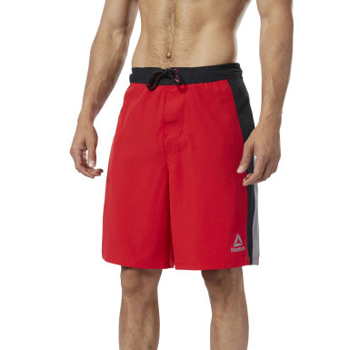 Men Training Red Splice E-Board Shorts