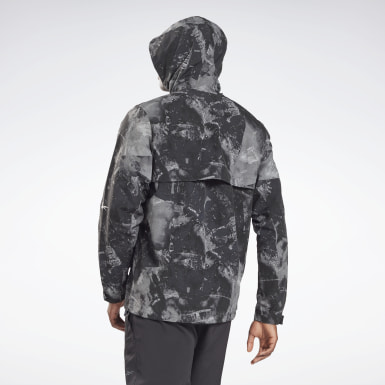Mænd Fitness & Training Black Printed Utility Jacket