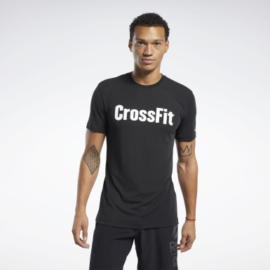 Men Cross Training Black Reebok CrossFit® Read Tee