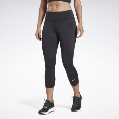 Frauen Trail Running Running Essentials 3/4 Tight Schwarz