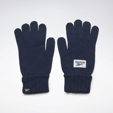 Fitness & Training Active Foundation Knit Gloves Blau
