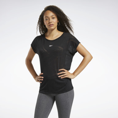 Women Training Black Burnout Tee