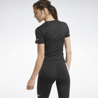 Women Cycling Black MYT Zip Crop Top