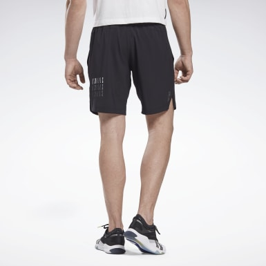 Men Cycling Black LES MILLS® 9-Inch Shorts
