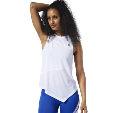 Women Training White Workout Ready Supremium Tank Top