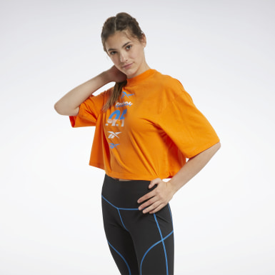 Women Training Orange MYT Graphic Tee