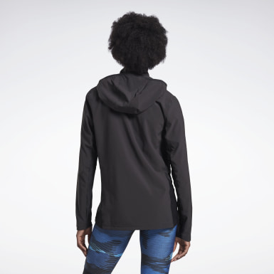 Frauen Trail Running Run Track Jacket Schwarz