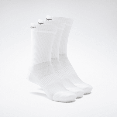 Calcetines medios Active Foundation - Pack de 3 Blanco Fitness & Training