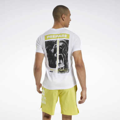 Men Cross Training White Reebok CrossFit® Prepare Tee