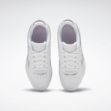 Girls Classics White Reebok Royal Glide Ripple Shoes