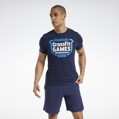 Men Cross Training Blue Reebok CrossFit® Games Crest T-Shirt