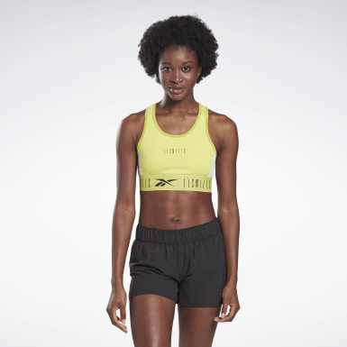 Women Studio Yellow LES MILLS® Low-Impact Sports Bralette