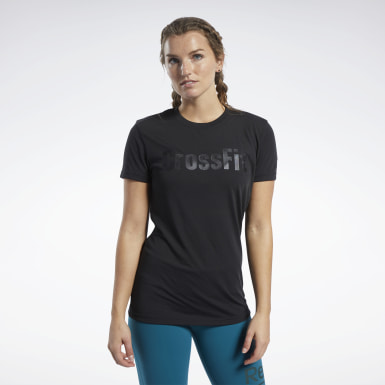 Dames Crosstraining Zwart Reebok CrossFit® T-shirt