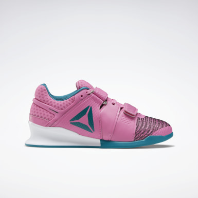 Women Cross Training Pink Reebok Legacy Lifter FlexWeave Shoes