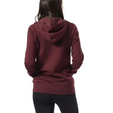 Women Training Burgundy Training Essentials Fleece Full-Zip Hoodie