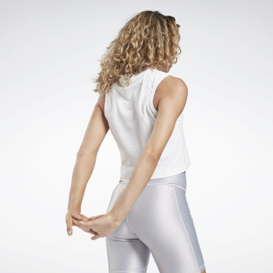 Canotta Studio High Intensity Graphic Bianco Donna Dance