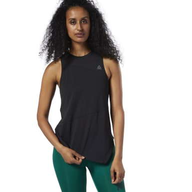 Women Training Black Workout Ready Supremium Tank Top