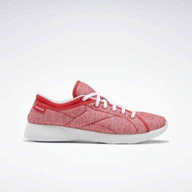 Women Walking Red Reebok Runaround Women's Shoes