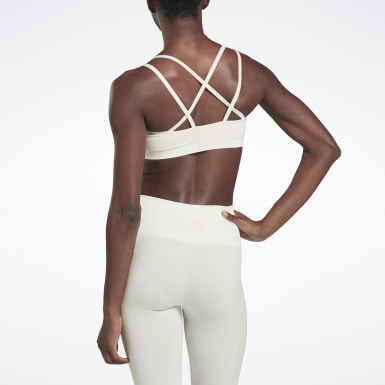 Women Yoga White VB Seamless Bra