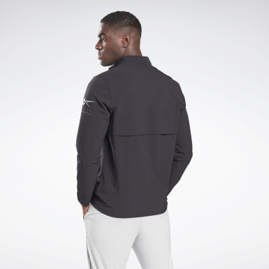 Men Training Black Performance Quarter-Zip Jacket