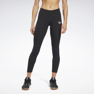 Women Fitness & Training Black Reebok Identity Leggings
