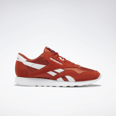 hommes's red reebok running trainers