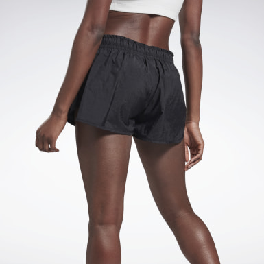 Women Running Black VB Running Shorts