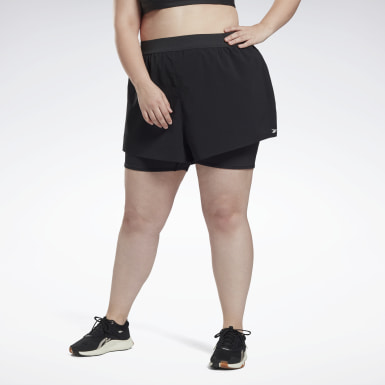 Women Trail Running Black Epic Two-in-One Shorts