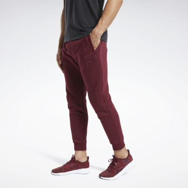 Men Fitness & Training Burgundy Training Essentials Mélange Joggers