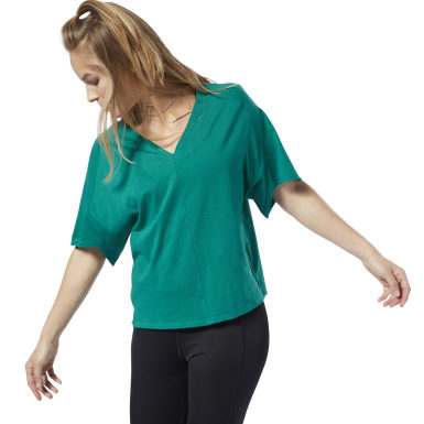 Women Fitness & Training Green Training Supply Tee