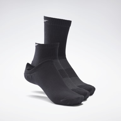 Calcetines Active Foundation - Pack de 3 Negro Fitness & Training