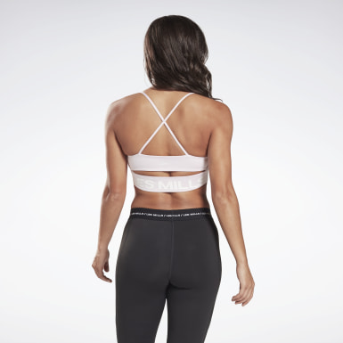 Bra LES MILLS® Tri-Back Medium-Impact Rosa Donna Studio